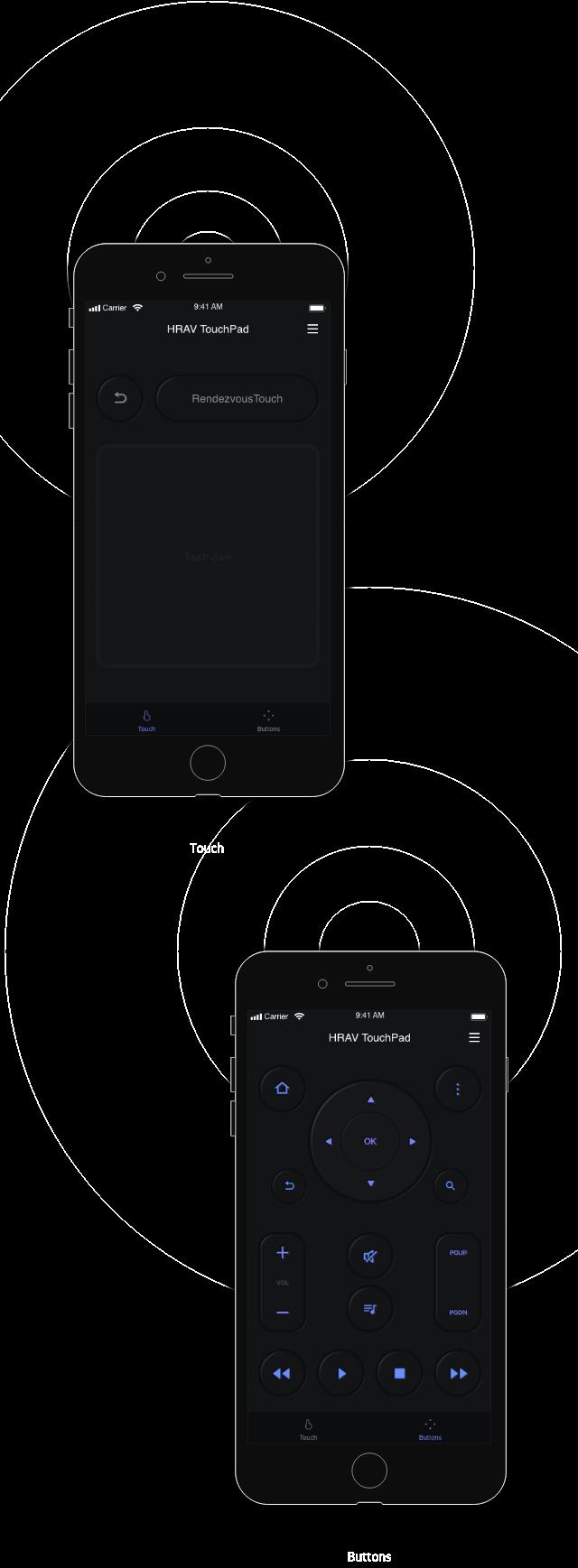 iOS Hi-Res audio player_스마트폰 제어 이미지