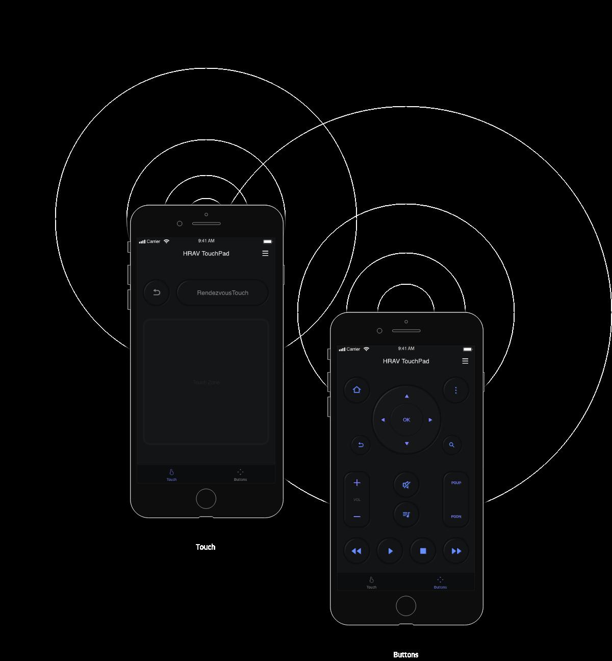 iOS Hi-Res audio player 스마트폰 제어 이미지