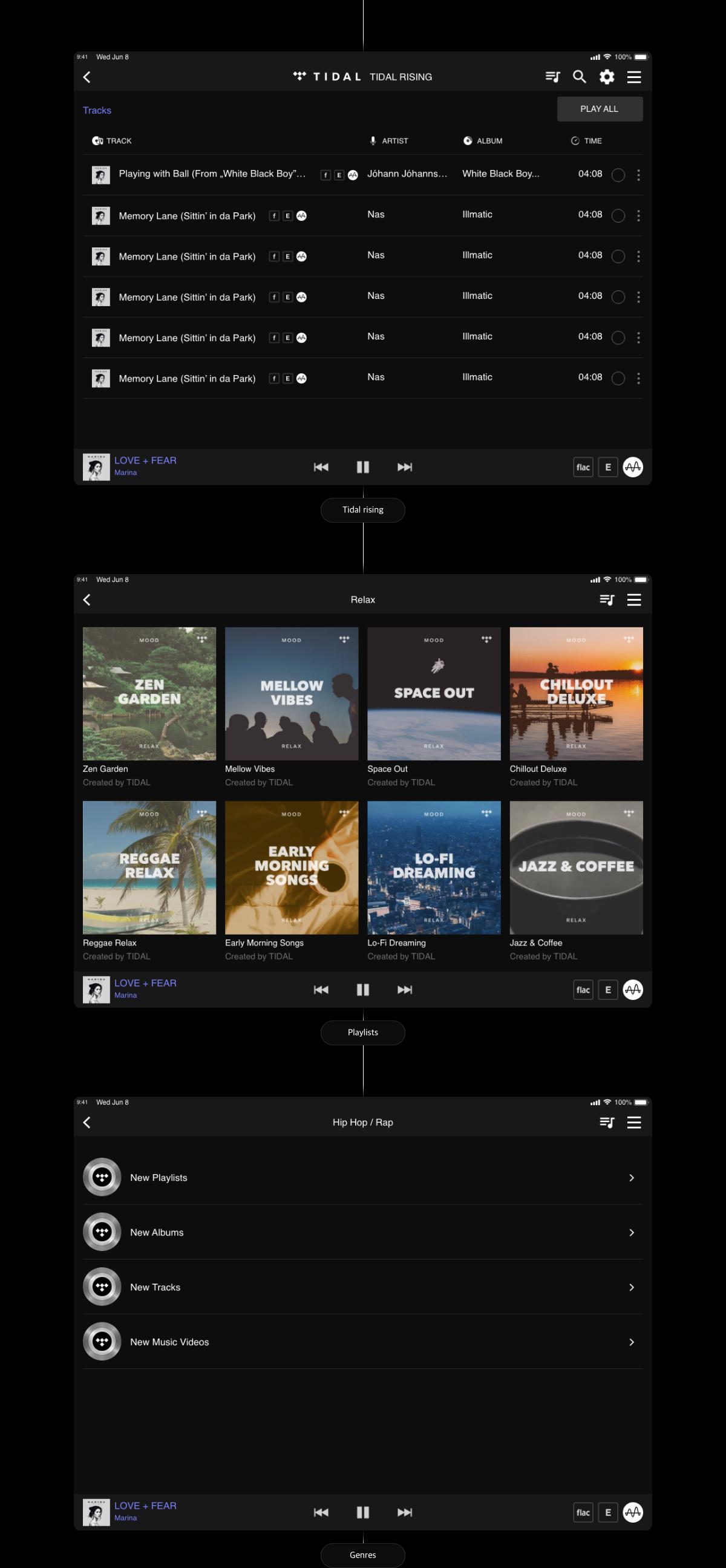 iOS Hi-Res audio player_ 디자인 화면 이미지 02