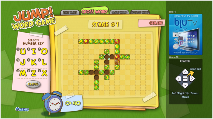 SmartTV - Game - Jump Word Game